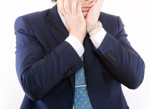 ショックな男性 起業 青色申告